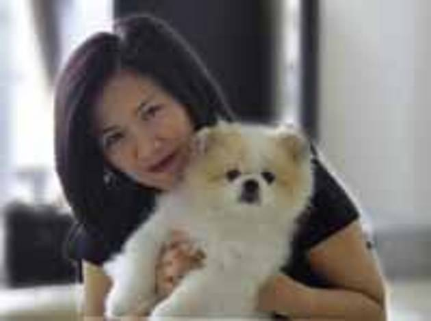 Yvonne Chow Hau Yee, pictured, was the owner of a dog who died after contracting coronavirus in Hong Kong