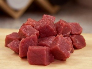 pieces of meat cubes